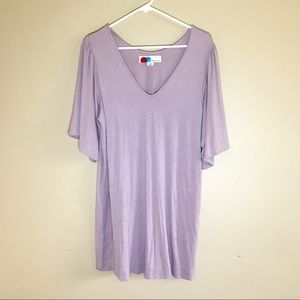 Free People lilac Swim cover dress tunic sleeves